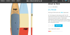 paddle board SUP Americana 12.0 very lightweight board