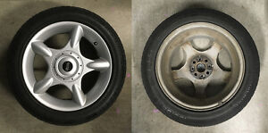 """Mini Cooper 16"""" Alloy Wheels and M+S Tires - set of 4"""