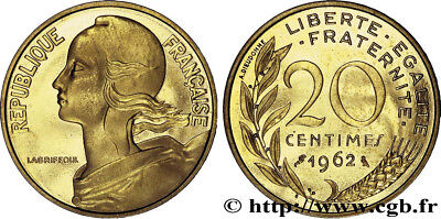 20 französische Centimes 1963