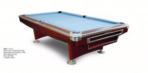 !!Brand New!! Gold Crown V Style Pool Table - 9 Feet