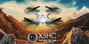 NEW Syma X5HC  Drone AltitudeHold Headless 2MPCam +4FREE BATTERY