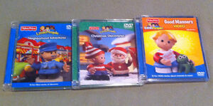 3 Fisher Price Little People DVDs