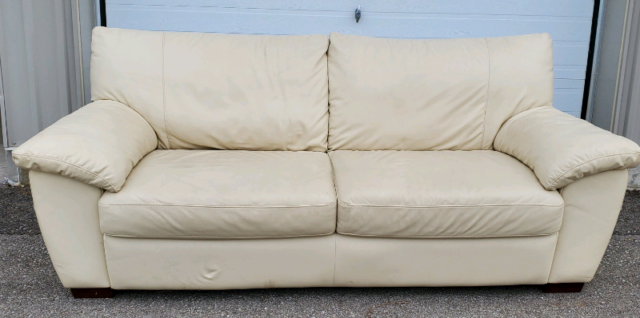 Cream Leather Sofas Couches Futons