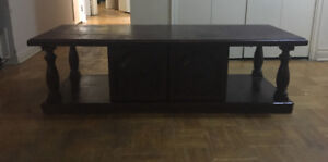 Urgent sale!! $60 Strong Oak Wood TV Table