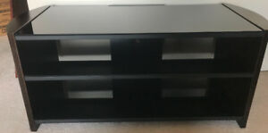 **WOOD & GLASS TV STAND FOR SALE**
