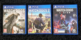 Watchdogs Trilogy PS4 PS5 Games - Mint Condition