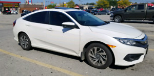 2017 Honda Civic EX Sedan - White with tinted windows