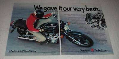 1981 Suzuki GS-1100E Motorcycle Ad - Gave Very Bests