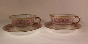 Limoges teacups and saucers set of 2