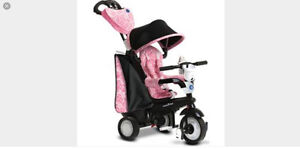 SmartTrike 4 in 1 Tricycle $100 obo pink and black.