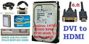 VGA, DVI Cable, Desktop SATA 320GB, 500GB, Xeon CPU, 2GB RAM ECC