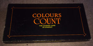 Vintage Colours Count Board Game 1985  w Article St Catharines