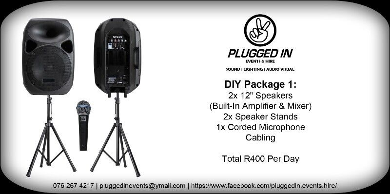 Small PA System For Hire - R400 Per Day