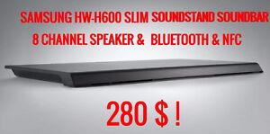 SAMSUNG HW-H600 SLIM SOUNDSTAND SOUNDBAR 8 CH BLUETOOTH