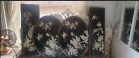 Chinese/Oriental 4 XL Picture Frames
