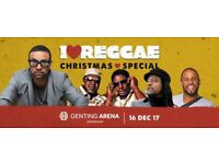 2 x I Love Reggae Christmas Special Golden Circle Tickets (Gentings Arena Birmingham 16 December)