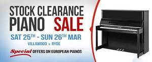 $1.0 Million Piano Stock Clearance Sale Villawood Bankstown Area Preview