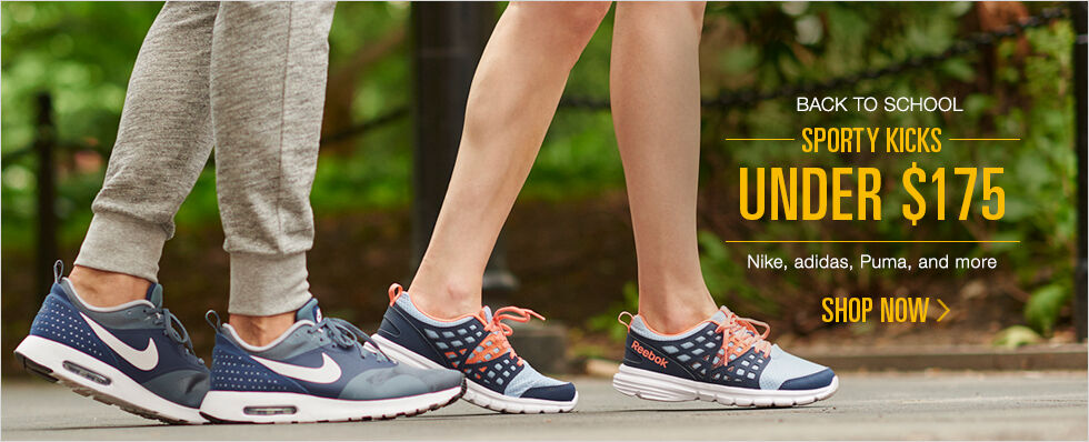 Back to School | Sporty Kicks Under $175 | Nike, adidas, Puma, and more | Shop now