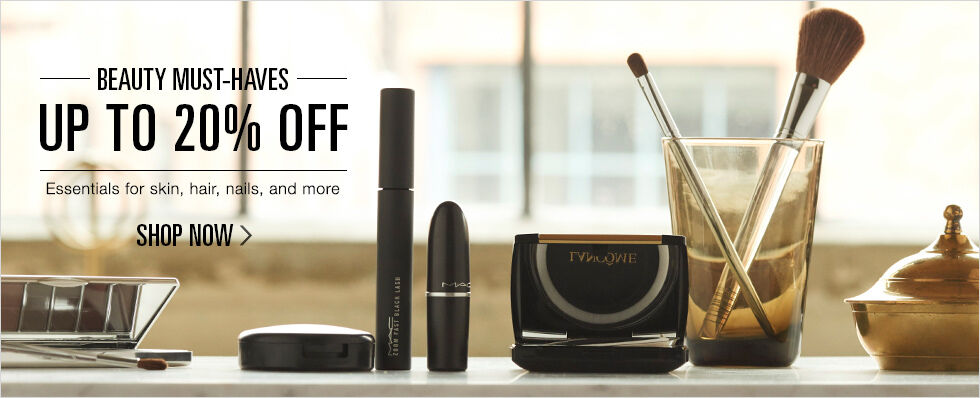 Up to 20% off Beauty Must-Haves | Essentials for skin, hair, nails, and more | Shop now