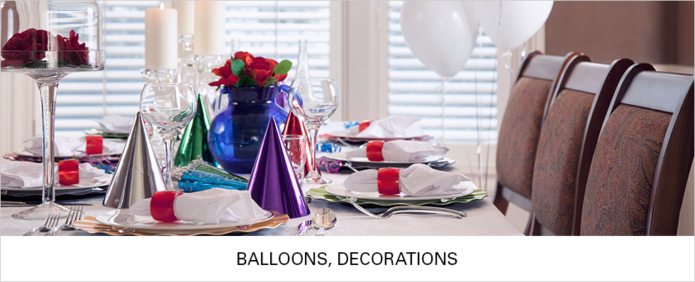 Balloons & Decorations | Shop Now