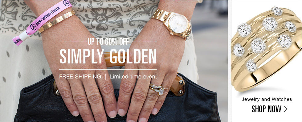UP TO 60% OFF JEWELRY AND WATCHES | SHOP NOW