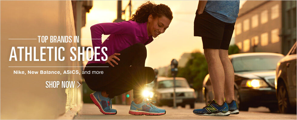 Top brands in athletic shoes   Nike, New Balance, ASICS, and more   Shop now