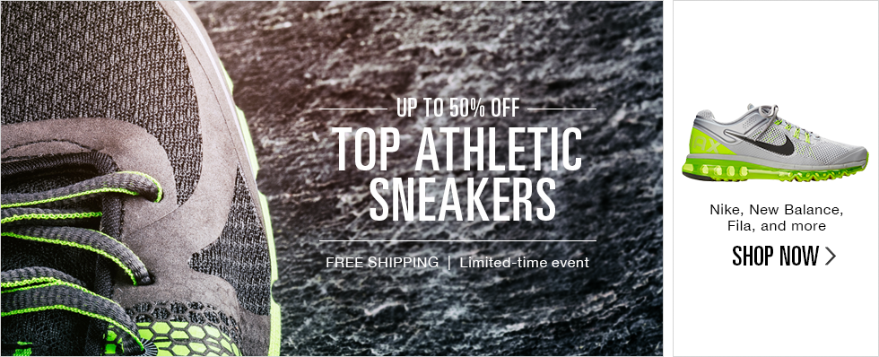 UP TO 50% OFF TOP ATHLETIC SNEAKERS | SHOP NOW