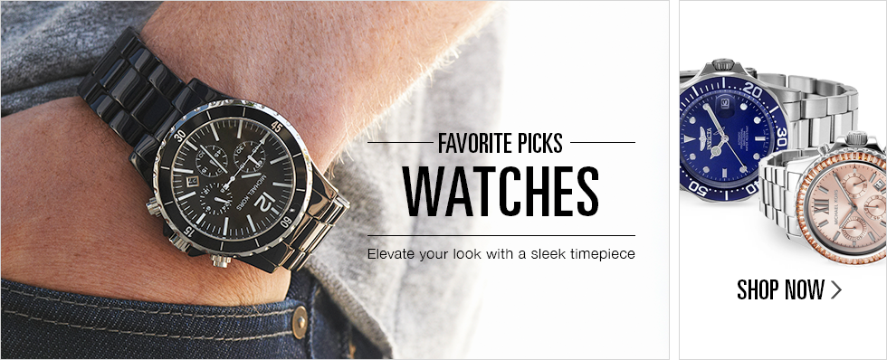 Favorite Picks: Watches | Elevate your look with a sleek timepiece | Shop now