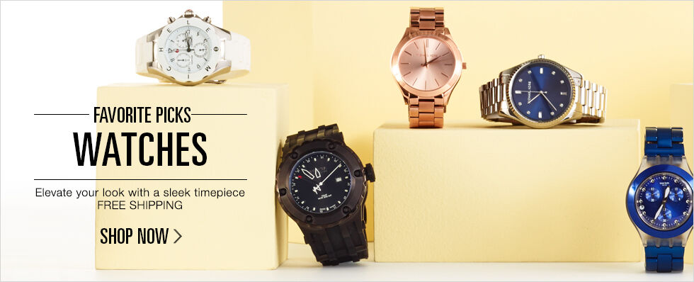Favorite Picks: Watches | Elevate your look with a sleek timepiece | Free Shipping | Shop now