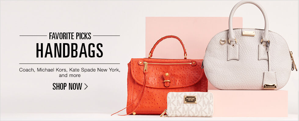 Favorite Picks: Handbags | Coach, Michael Kors, Kate Spade New York, and more | Shop now