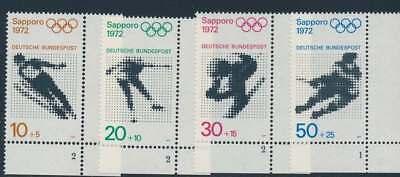 Bund Nr. 680-683 FN postfrisch / **, Eckrand Ecke 4, Formnummer (35206)