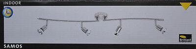 Gusseisen Decke Beleuchtung (BRILLIANT SAMOS Deckenstrahler Balkenspot GU10 dreh-/schwenkbar Spots Eisen 200W)