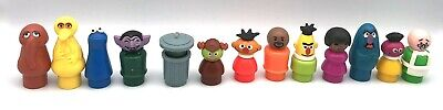 Fisher Price Vintage Little People SESAME STREET Lot of 13 FIGURES Snuffy Herry