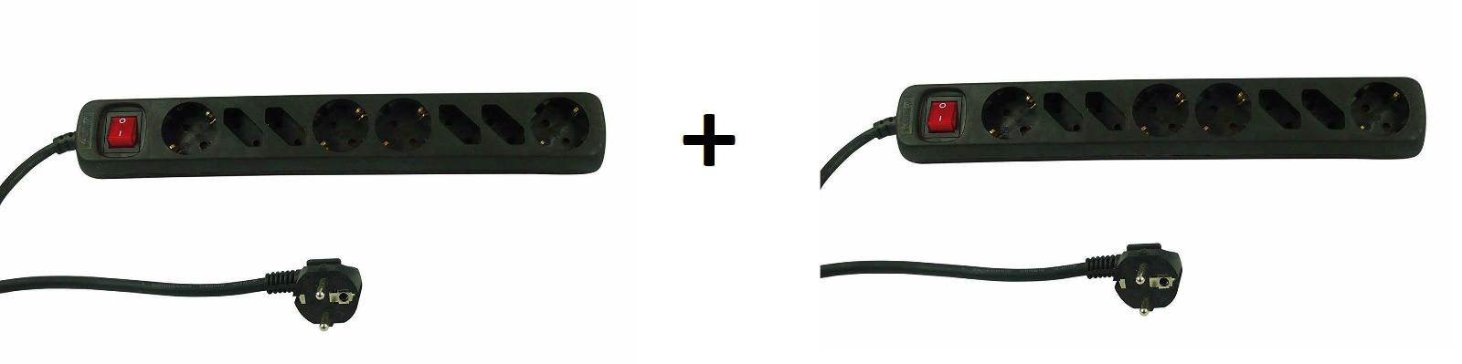 2x REV 8 Fach Steckdosenleiste Mehrfachstecker mit Schalter Steckdose Mehrfach