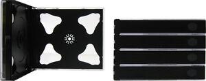5-CD6R24DG-Six-6-CD-Jewel-Cases-Boxes-Trays-Chubs-Chubby-24mm-Thick-NEW