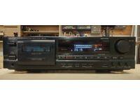 Denon DRM-740 3 head Cassette Deck. New belts