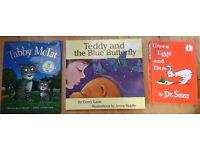 Tabby McTat, J Donaldson. Teddy & The Blue Buttefly, G Lane. Green Eggs & Ham, Dr Seuss. Hardbacks.