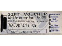 Theatre Royal Bath Gift Voucher Ticket