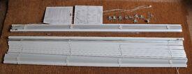 2 x Brilliant white Venetian blinds 1746mm wide 1262mm drop