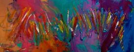 Modern Abstract Expressionist Paintings for Sale in London - Acrylic & Spray Paint on Canvas
