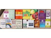 16 Self Help & Health Books Job Lot Bundle Personal Development Improvement