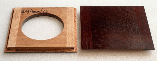 "1 Lens board 6x6""SC(152.2mm) for Graflex Century Universal 8x10 camera, mahogany"