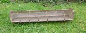 antique cast iron pig trough bygone garden ornament planter