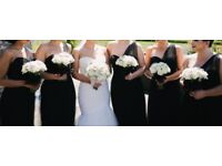 Bridesmaid Black Dress One Shoulder Tulle Veromia VRB71561 5 dresses available in sizes 10, 12 & 20