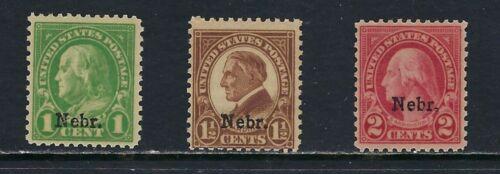 USA -MNH Nebraska Overprints  # 669-671.............11R..........C-511