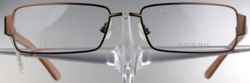 FOSSIL 1128 Brille Brillengestell Orange Rot Leder Metall Damen Herren NEU