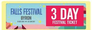 3 day falls festival ticket with camping Bonogin Gold Coast South Preview