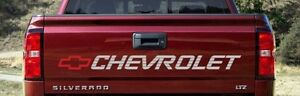 Chevrolet Silverado Tailgate 454ss Vinyl Decal (Any Color)