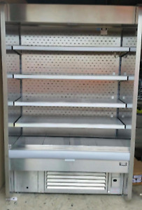 Stainless Steel Store merchandizer refrigerator / fridge - open