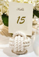 NAUTICAL WEDDING WHITE ROPE TABLE NUMBER HOLDERS